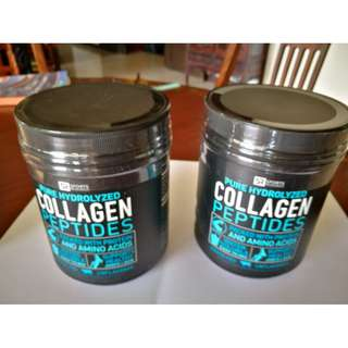2 X Pure Hydrolyzed Collagen Peptides, Dietary Supplement, Grass Fed, 16 OZ