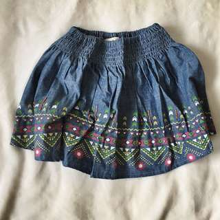 Rustan's Kiddos Embroidered Demin Skirt