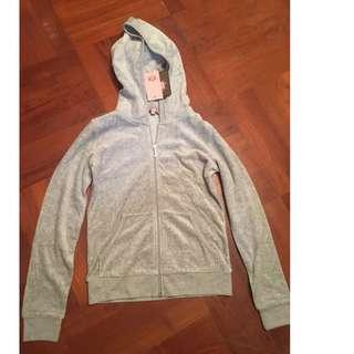 Juicy Couture coat light jacket淺灰色外套 (連帽) HOODIE/SWEATER