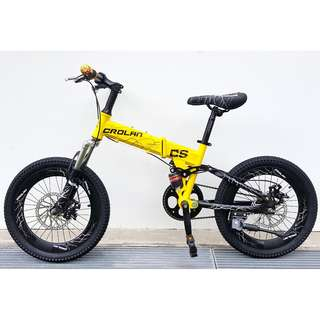 (Full Suspension ) CROLAN Brand new 18''-MTB kids Bike / Bicycle with front and back Sports Rims ,Disc brakes and Full Suspension etc