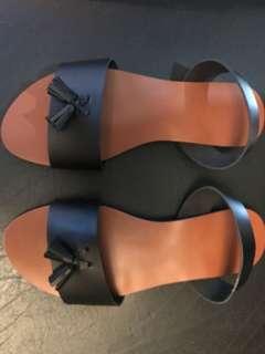Marikina made sandals slingback tassle