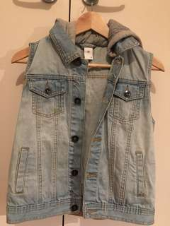 Target denim vest hoodie