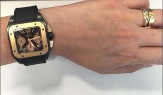 Cartier Santos Chronograph Rose Gold ADLC