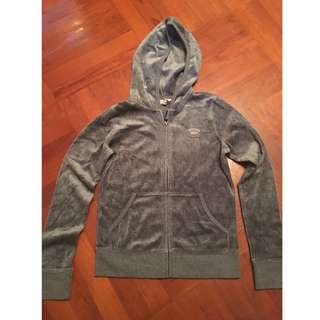 Juicy Couture coat/jacket silky 全新深灰運動外套 hoodie/sweater