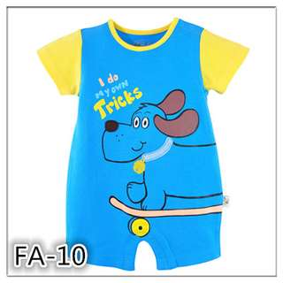 Skateboard Dog Baby Boy Cotton romper bodysuit