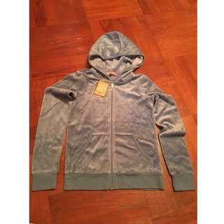 Juicy Couture coat/jacket 灰藍色/軍綠絨毛外套 hoodie/swetaer