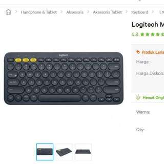 Logitech multi device bluetooth keyboard - K380