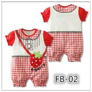 Strawberry Baby Girl cotton bodysuit romper