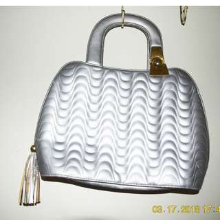 Silver Hand Bag