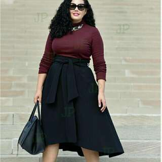 Plus Size Terno (Top+Skirt)