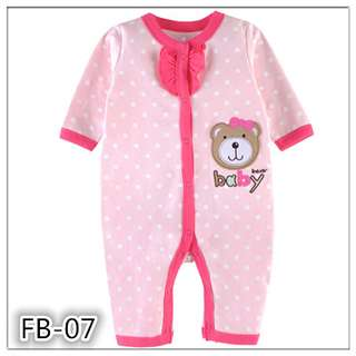 Baby Bear Girl Cotton sleepsuit 9M