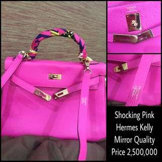 Hermes Kelly, Mirror Quality (Shocking Pink)