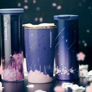 Starbucks Sakura Midnight Tumbler mug