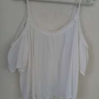 100 PESOS ONLY!! OFFSHOULDER WHITE