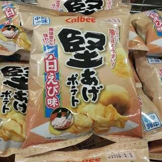 堅脆中部白蝦味薯片