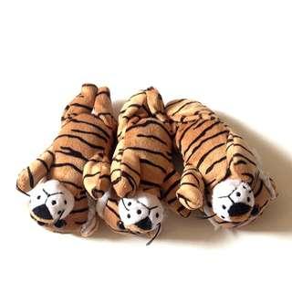 Set of 3 Tiger Cub Stuffed Toys
