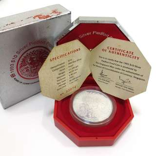 1993 Singapore Year of Rooster 10 dollar proof coin
