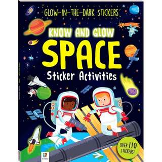 Know and Glow SPACE Glow-in-the-dark Sticker Activity Book Over 110 Stickers!
