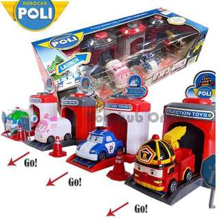 Robocar Poli Shooting Station Garage Car Park Play set