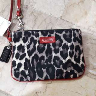 Original coach wristlet - animal print