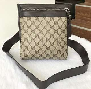 Authentic Gucci Laminated Canvass Sling Bag