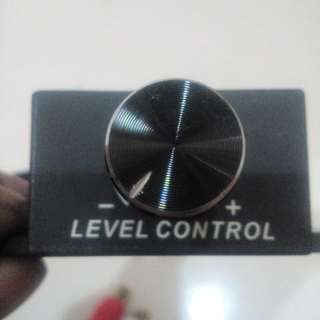 Amplifier Level Control Stereo Steel Knob
