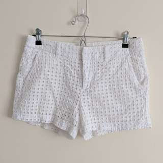 Gap White Textured Beach Shorts