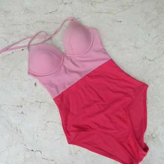 Two Toned Pink Bench One Piece