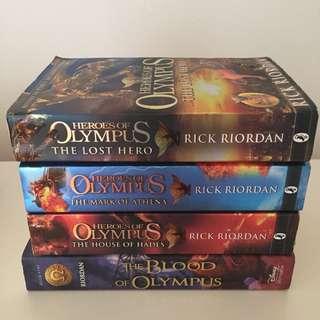 Percy Jackson Books - olympus