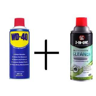 Wd-40 air cond cleaner & wd-40 multipurpose oil