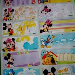 Mickey & Friends Name Sticker