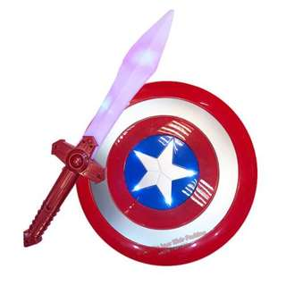 Captain America Sheid with Sword Set With Sound and Light