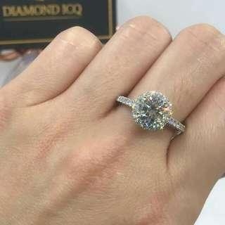 💥 OverSize豪鑲鑽石現貨戒指 💍 向心儀對象表白心意 ✔🌸GiA證書1.16卡F色 I2 FNT💖