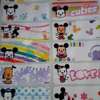Cuties Mickey  Name Sticker