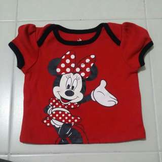 Red minnie top 6-9mos
