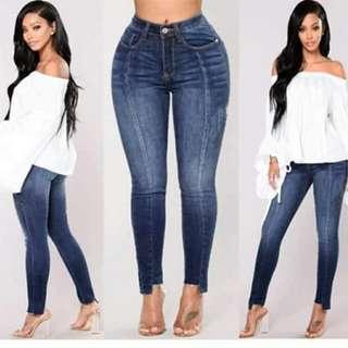 Plus size irregular cut denim jeans