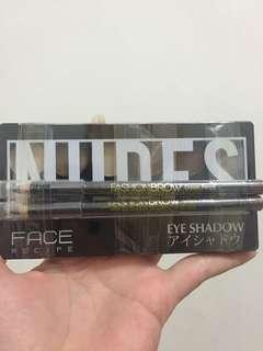 Eyeshadow copia dan pensil alis maybelline