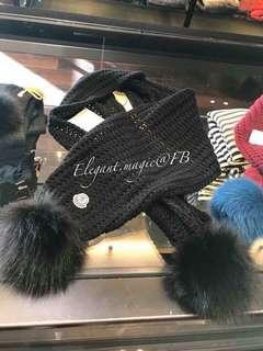 轉季特價Moncler 毛毛球頸巾大人可帶的小童款