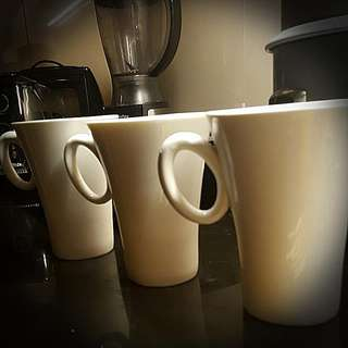 SALE: 3 Ceramic Coffee cups