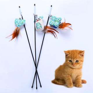 CAT TOYS - FISHING ROD -  MOUSE