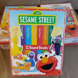 Sesame Street My First Library Board Books in a Carrying Case