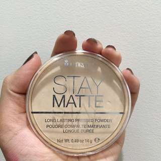 Rimmel Stay Matte Powder: Transparent