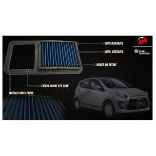 AIR FILTER WORKS AXIA 1.0 DROP IN ALZA MYVI KANCIL GEN2 WIRA WAJA SAGA SATRIA