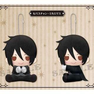Kuroshitsuji (Black Butler) es Series nino 12cm Big Plushie Mascot Keychain - Sebastian Michaelis