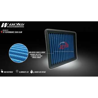 AIR FILTER WORKS CIVIC EG 1.5 1.6 92-95 ALZA MYVI KANCIL GEN2 WIRA WAJA SAGA SATRIA
