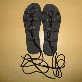 NO PHP - NEGO - Preloved Sandal Tali Hitam