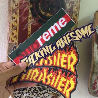 Fucking Awesome STICKER , Thrasher STICKER , Supreme x gucci STICKER