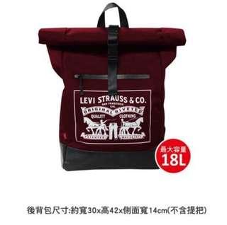 紅色Levi's 筆電後背包
