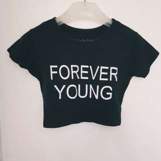 Forever young cropped top