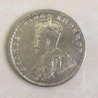 1919 King George V One Silver Rupee